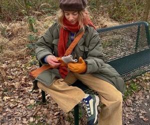 autumn, jacket, and orange image