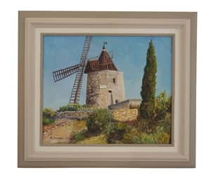 etsy, windmill painting, and french country image