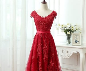 ball gown, evening dress, and Prom image