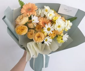 flowers, yellow, and bouquet image