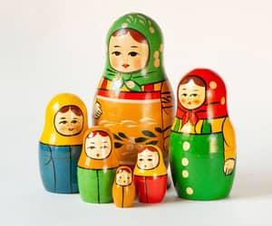 etsy, russian matryoshka, and home decor doll image