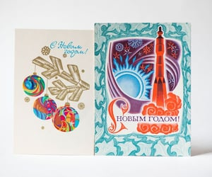 etsy, vintage postcards, and postcard new year image