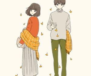 arts, couple, and autumn image
