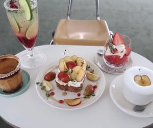 apple, cafe au lait, and cafe image