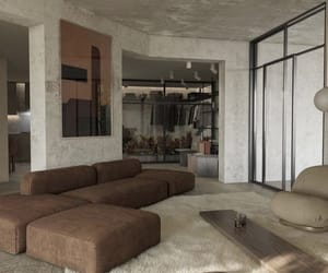 aesthetic, architecture, and living room image