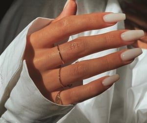 hands, nail, and white image