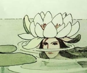 art, water, and drawing image