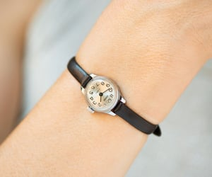 etsy, petite watch gift, and women watch silver image
