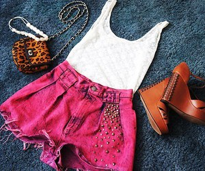 clothes, pink, and shoes image