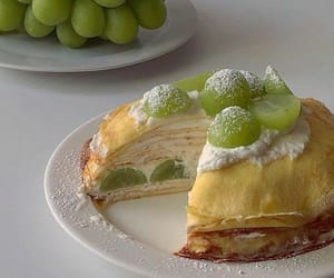 dessert, food, and grapes image