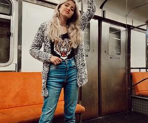 blonde, subway, and girl image