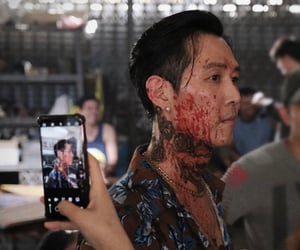 actor, behind the scenes, and tattoo image