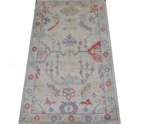 home decoration, ivory color, and oushak rugs image