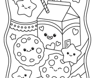 anime, coloring, and coloring book image