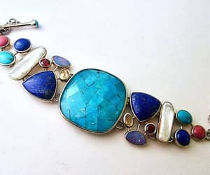 etsy, multi color bracelet, and 925 bracelet image