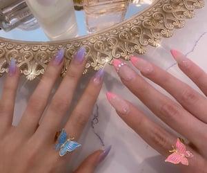 fake nails, nails, and make-up image