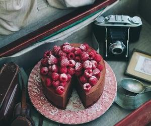 wallpaper, chocolate and raspberry