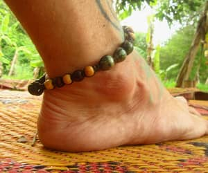 beach wear, hippie anklet, and mens anklet image