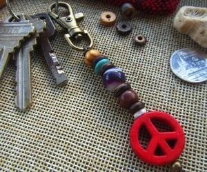 anti war, healing keychain, and unisex keyring image
