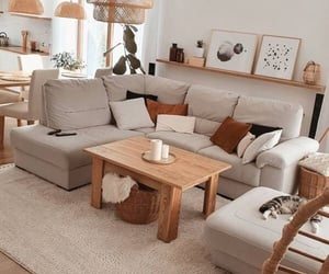 Living Room Sectional Sofa Couch and Coffee Tables with Decor Accents |Pinterest