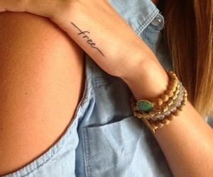 bracelets, tattoo, and ring image