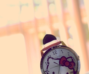 hello kitty, pink, and watch image