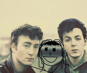 john lennon, lol, and Paul McCartney image