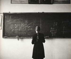 black and white, school, and vintage image