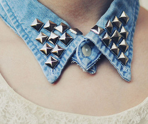 blue, button, and collar image