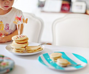 child, pancakes, and party image