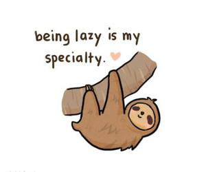 Lazy, sloth, and specialty image
