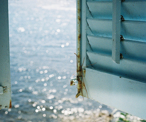 sea, window, and summer image