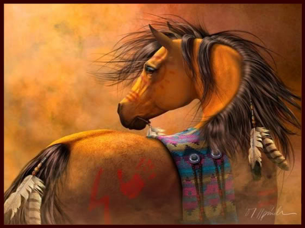 Free Native American Horse Painting Wallpaper Download The Free
