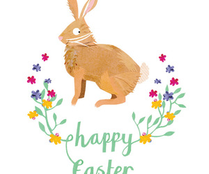 art, bunny, and easter image
