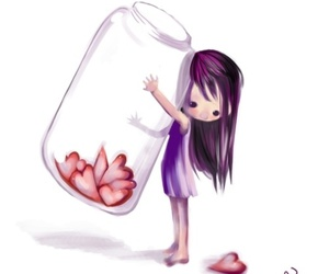 hearts, heart, and jar of hearts image
