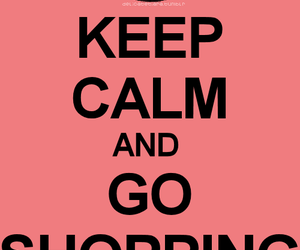 shopping, keep calm, and pink image