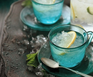 drink, lemon, and tea image