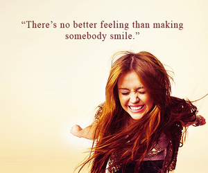 miley cyrus, quote, and smile image