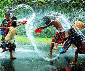 fun, rain, and water image