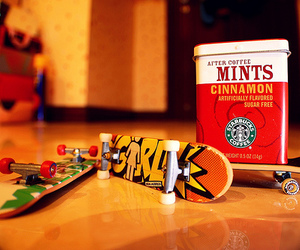 Cinnamon, skateboard, and mints image