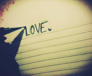 writing and love image