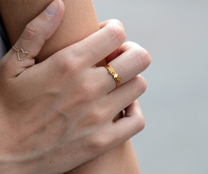 fashion, rings, and heart image