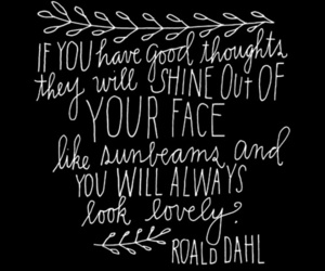 quote, Roald Dahl, and lovely image
