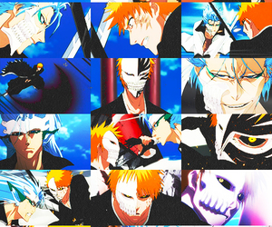anime, bleach, and blood image