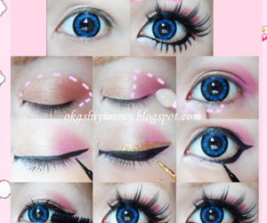 eye, fashion, and gyaru image