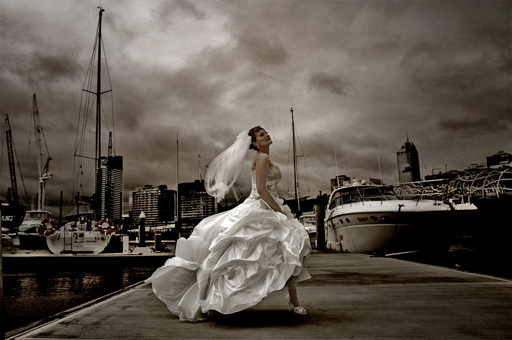 Wedding Picture Black And White Artistic Photo The Bride By Katialo