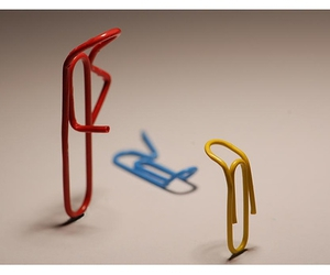 blue, paper clip, and red image