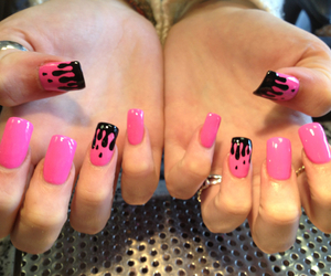 pink, gorgeous, and nails image