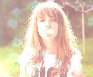 girl, cute, and bubble image