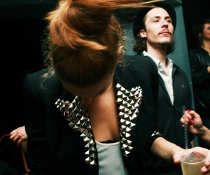 hair, drink, and jacket image